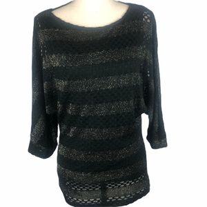 Alberto Makali Lace Dolman Sleeve Sweater Sz S